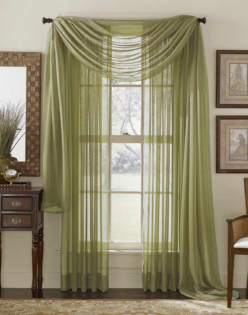 Green Living Room Curtains